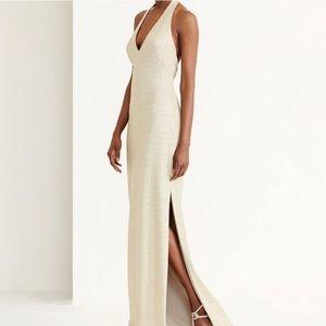NWT Size 10 Ralph Lauren Gold Sparkly Evening Gown